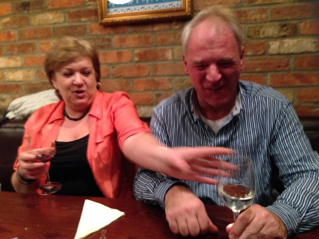 Funeral Director Kim seems to need more wine!