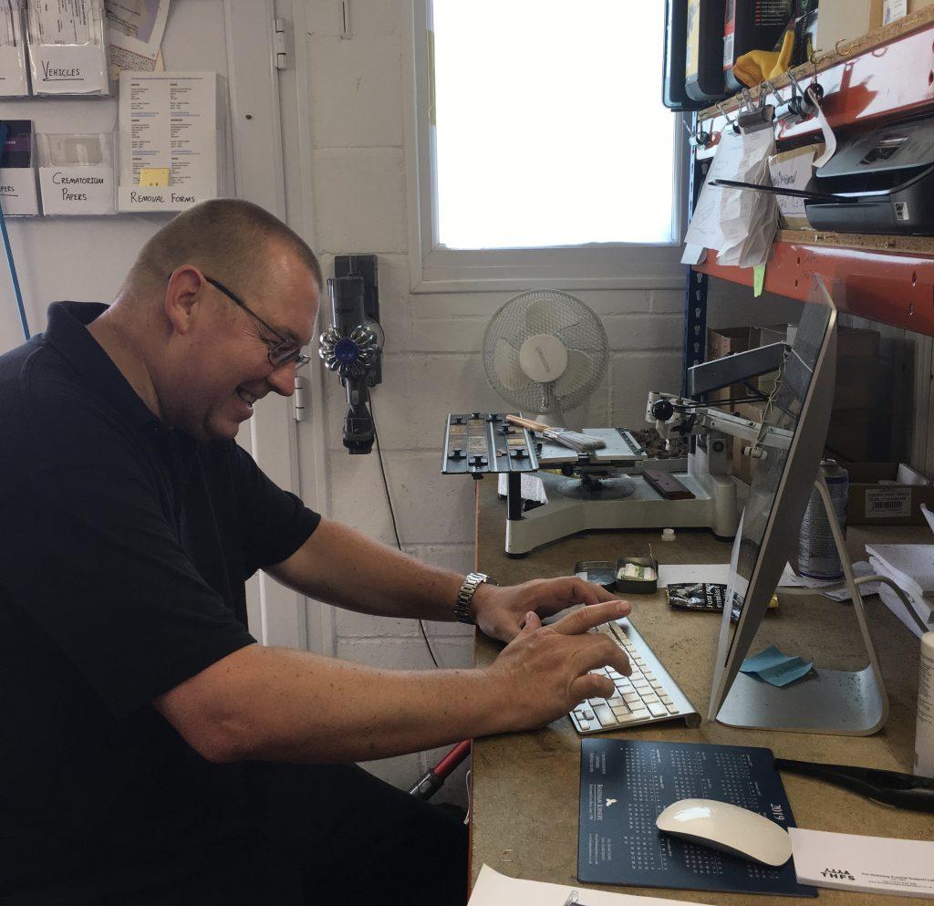 Andy hard at work